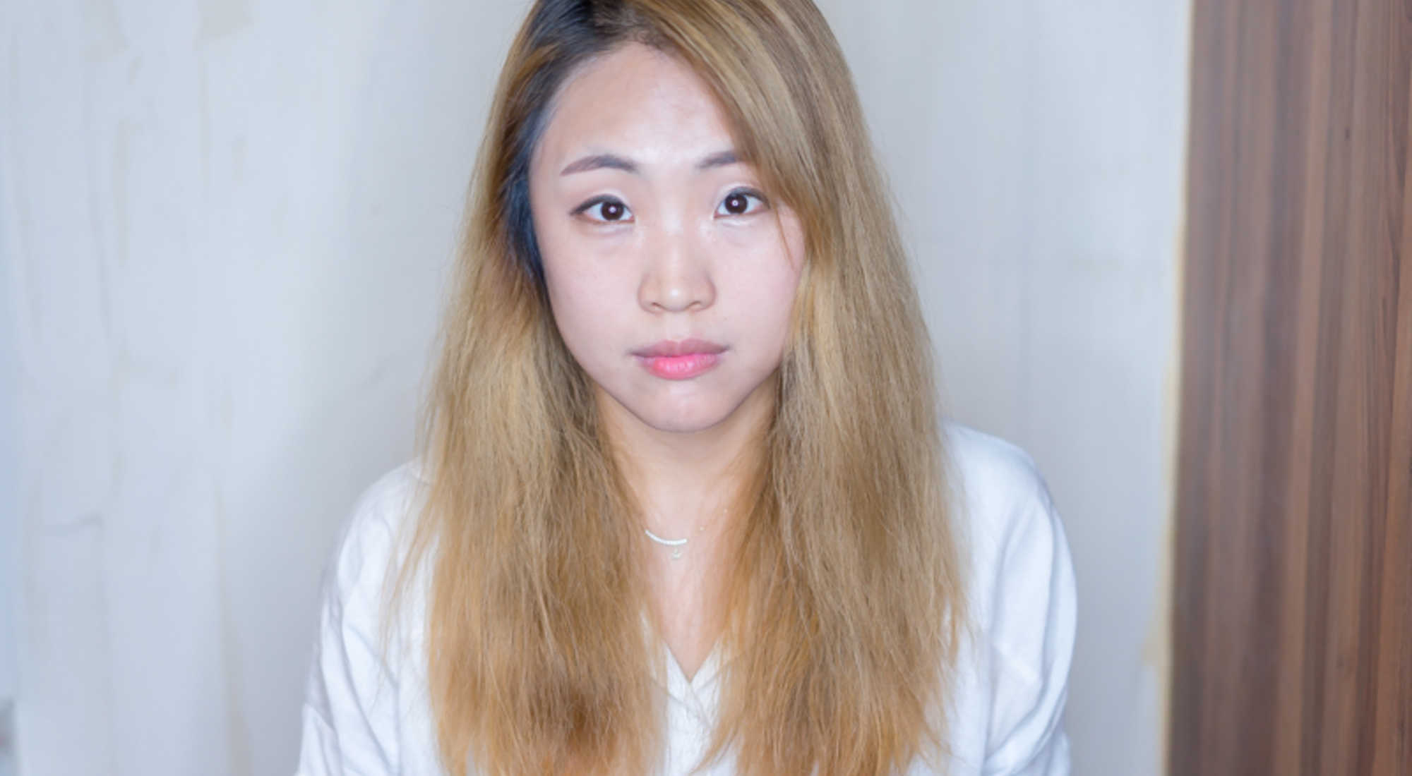 Dry and Frizzy Bleached Perm