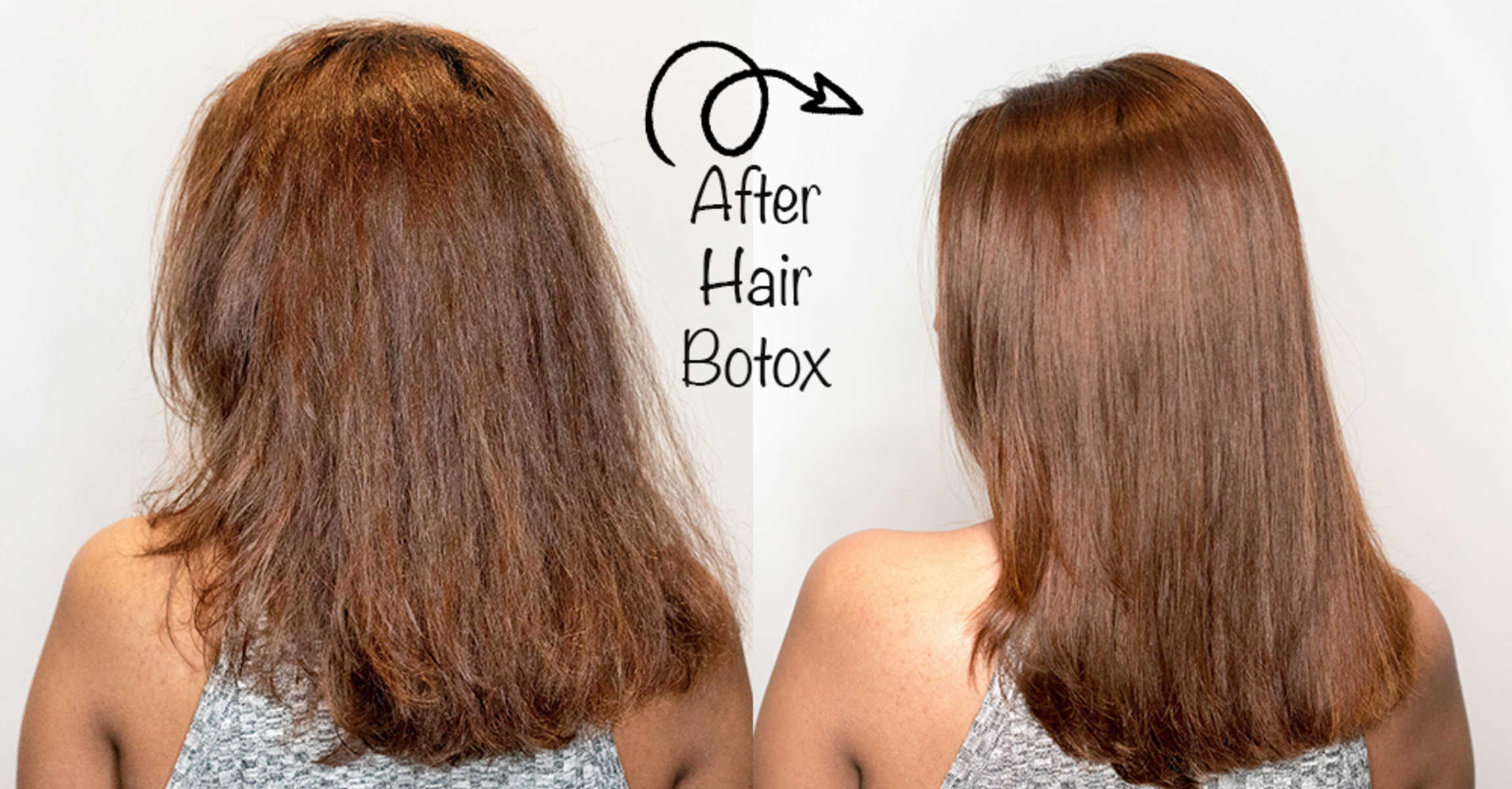 Before and After Premium Hair Botox at Chez Vous Hair Salon
