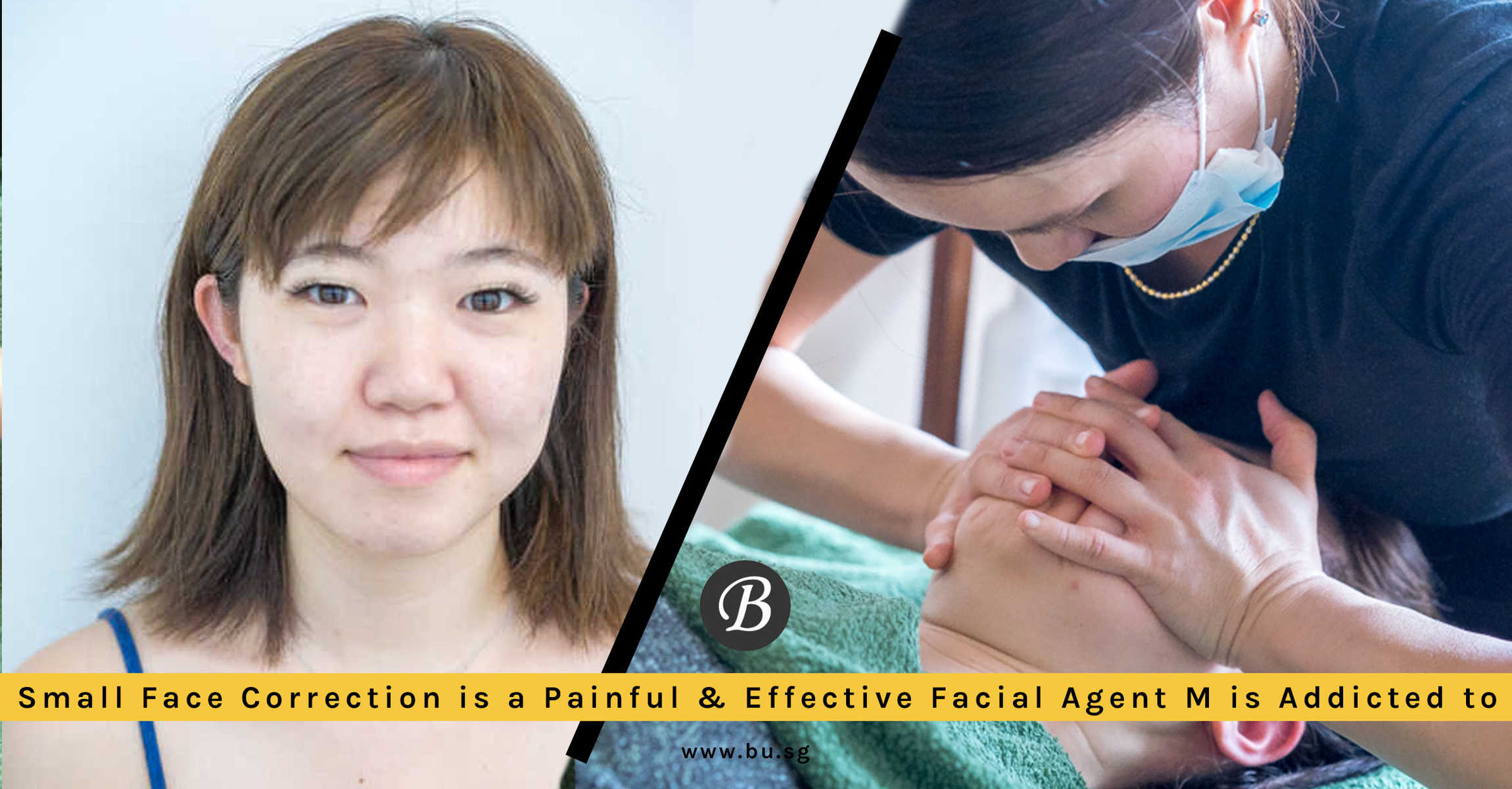 Small Face Correction is a Painful but Effective Facial That Reduce Facial Bloating and Sharpen Jaw for Japanese Nail Therapist M