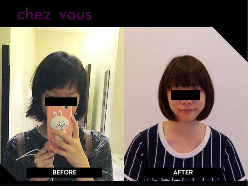 Rescued C Curve Rebonding Before After by Chez Vous