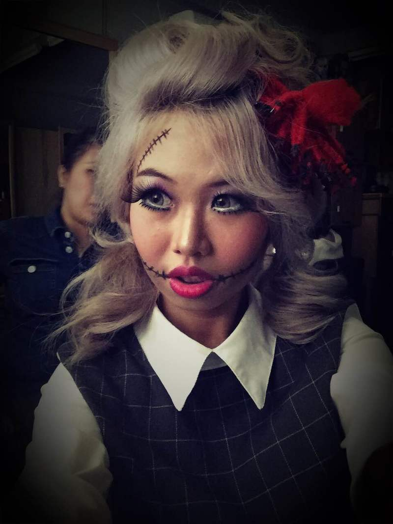 halloween hair and makeup by 99 percent