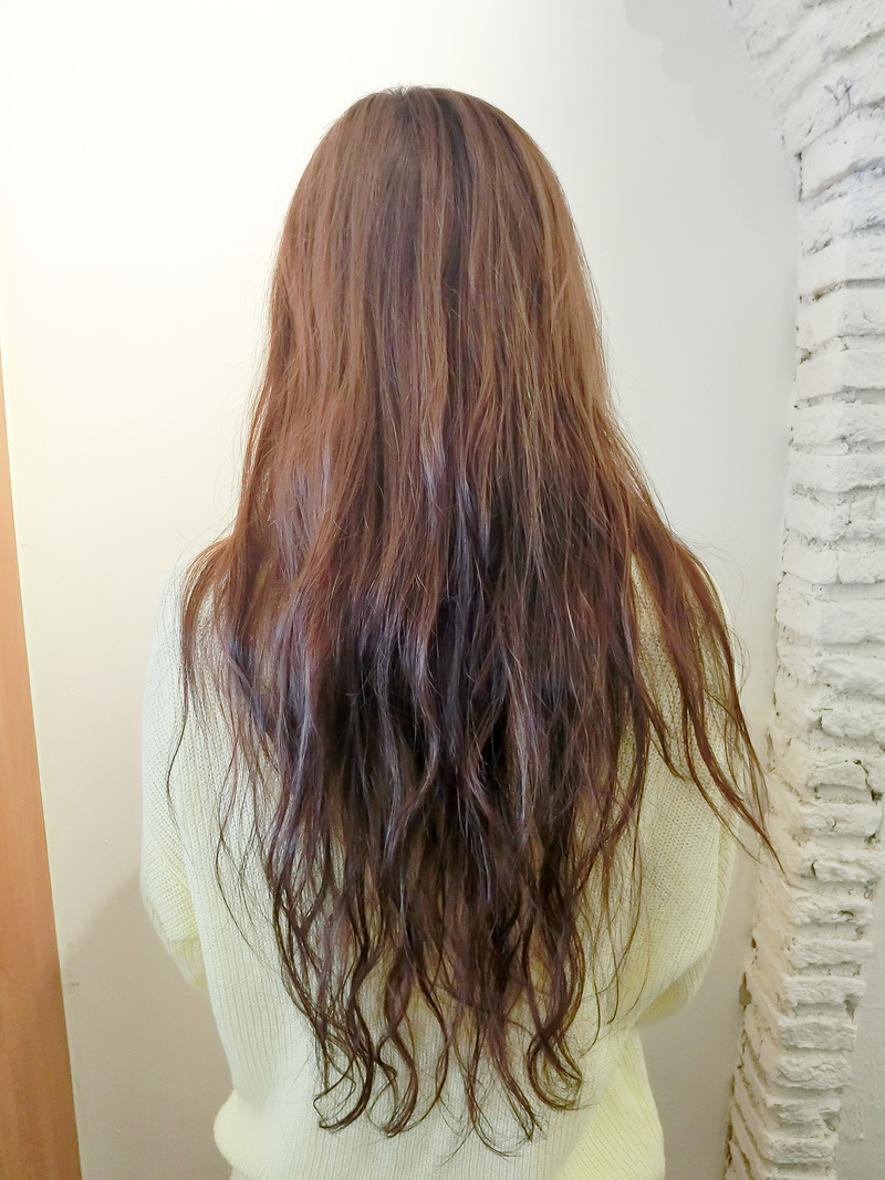 before perm back view