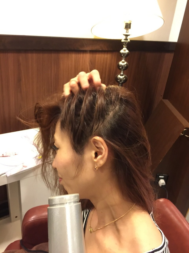 Blow Dry the Hair from the sides in an upwards direction