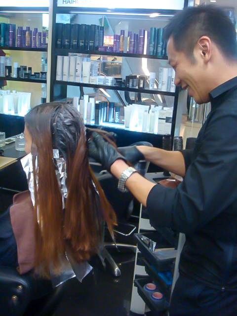 9. Applying Hair Colour in sections