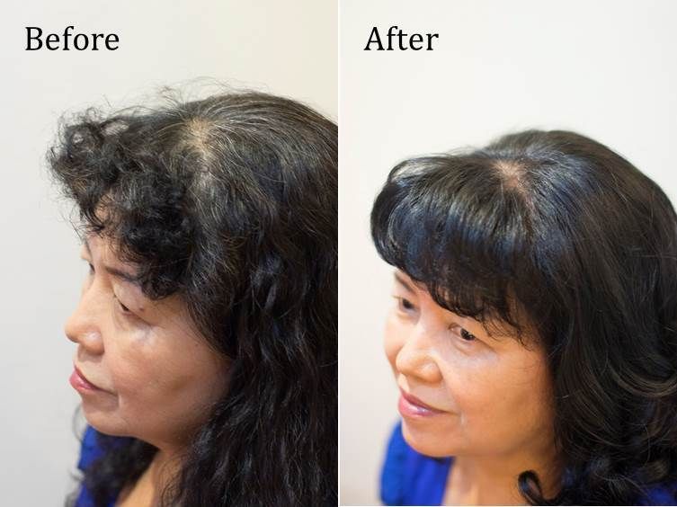 Mom's Hair Makeover Before and After at Koinonia Salon