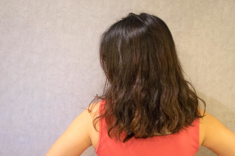 Back view of unkempt hair