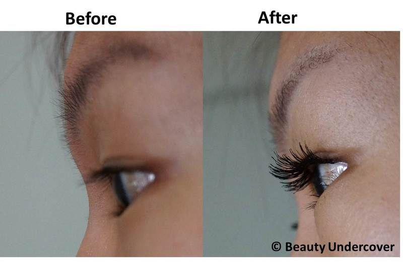 Before and After Eyelash Extension at Allumer Japanese Beauty