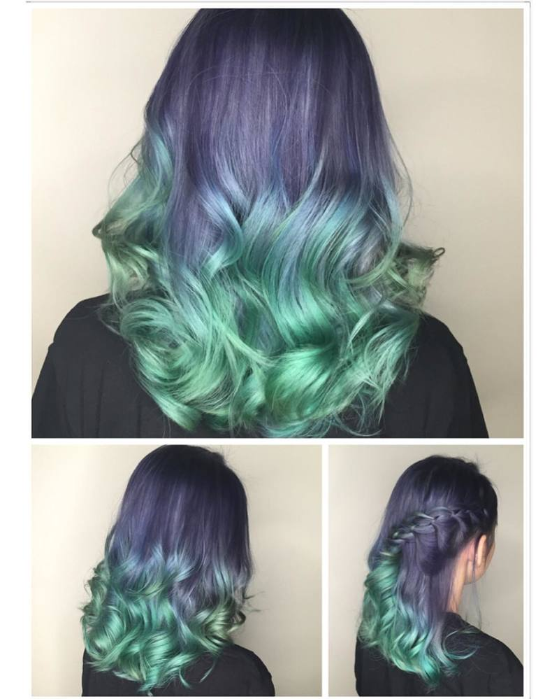 turquoise and green