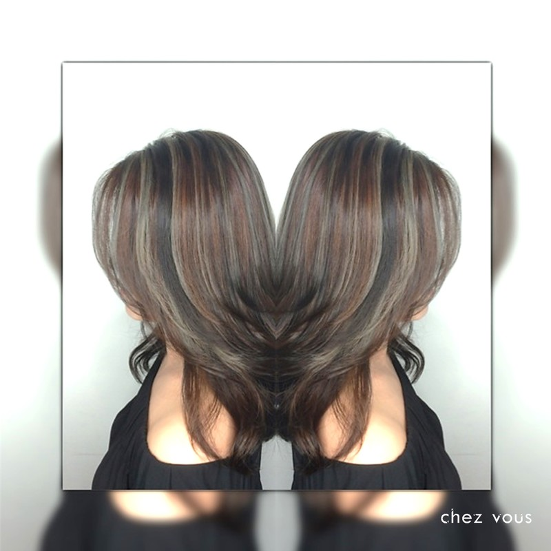 Done by Salon Director of Chez Vous Serene Tan Design Melted Nude Hair Warm X Cool Colour_Dramatic