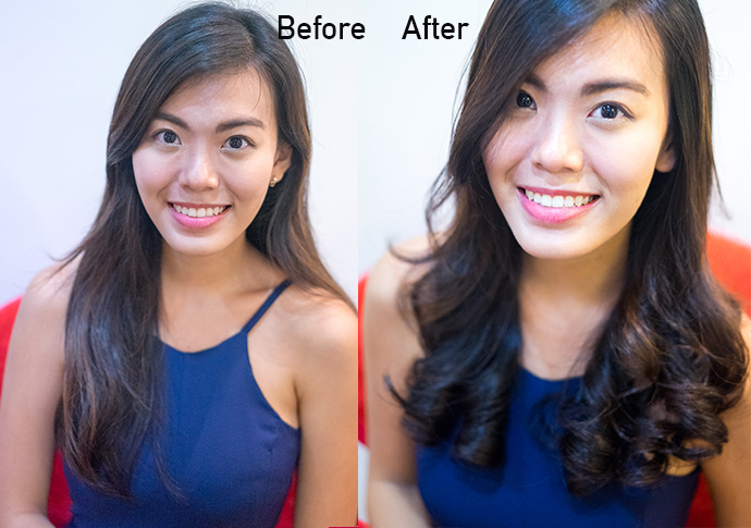 before and after front