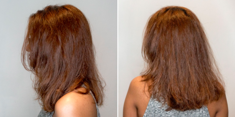 Before and After Hair Botox at Chez Vous