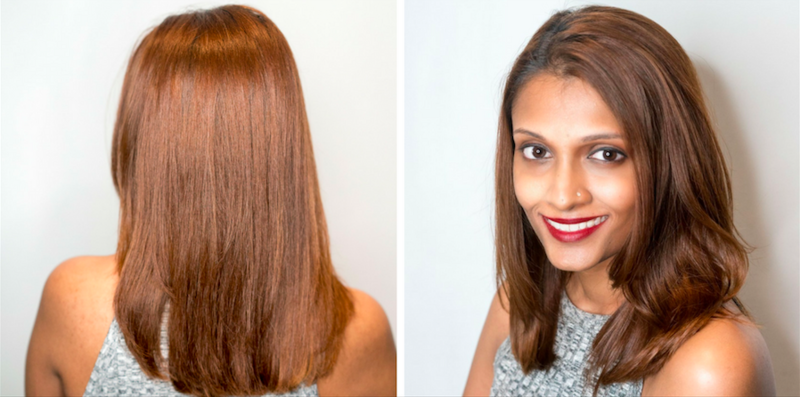 Smooth and Silky Hair After Hair Botox at Chez Vous Hair Salon