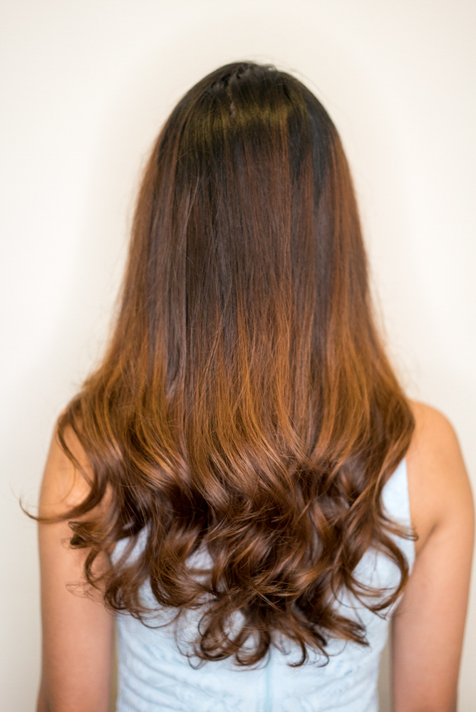 Before and After Kerastase Hair Treatment at Picasso Hair Studio