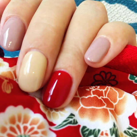 Red Nail Art for National Day