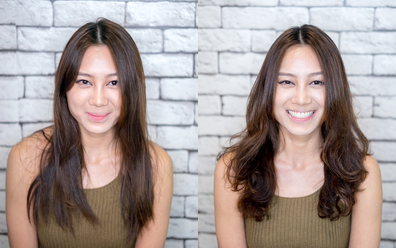 Before and After Volume Perm at Act Point Salon