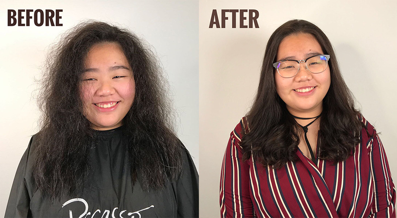 Before and After Volume Rebonding For Curly Hair at Picasso Hair Studio