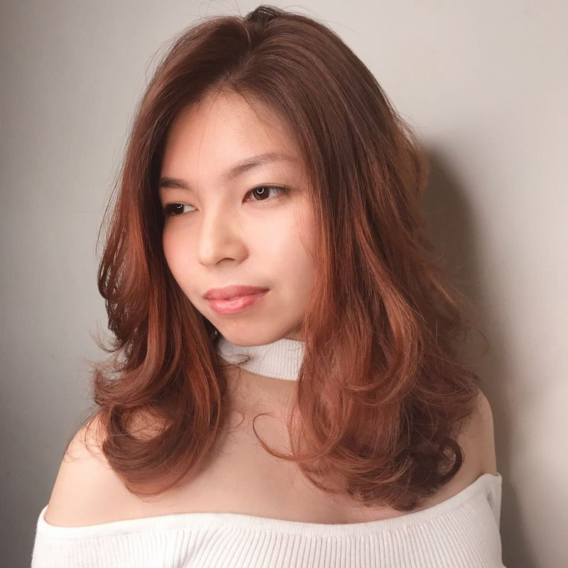 Two Toned Colour for Cushion Perm