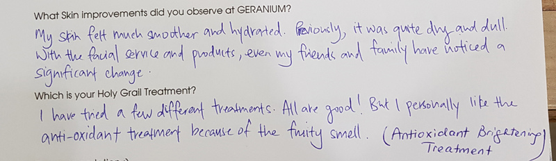 Customer Review of Geranium Skin and Hair Boutique