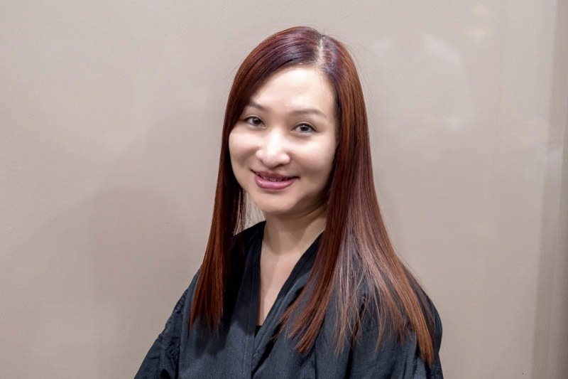 Smooth and Straight Hair After Kerabond Organic Keratin Treatment