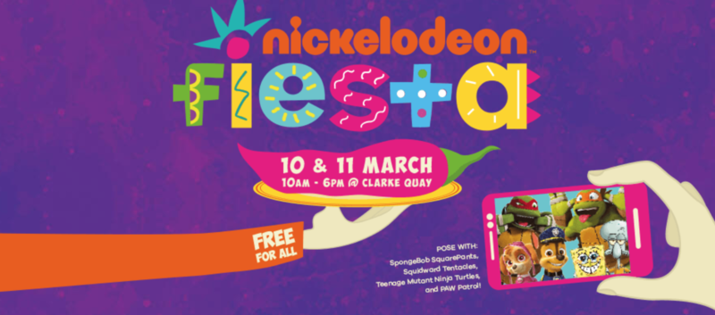 Clarke Quay with the Nickolodeon Fiesta 2018