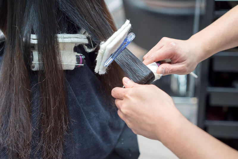 Curling Process During Rebonding Perm at Act Point Salon