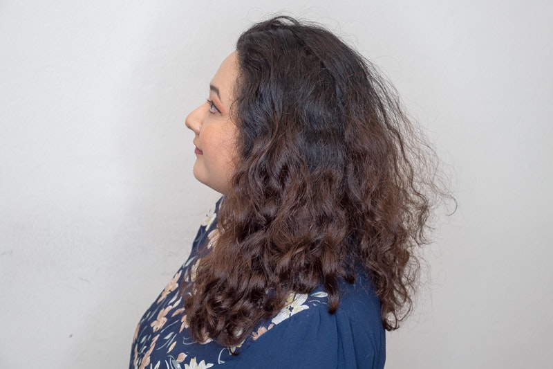 Curly and Frizzy Hair Before Rebonding Perm at Act Point Salon