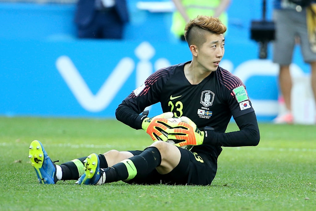 Cho Hyun Woo's Blonde Mohawk World Cup Hairstyle