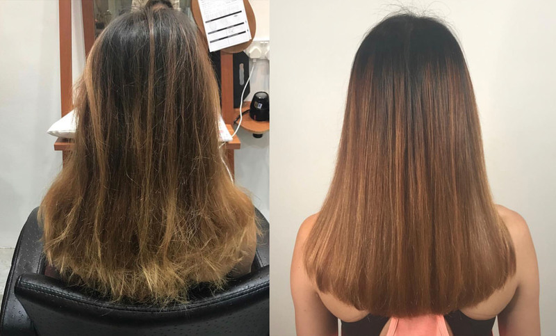 Volume Rebonding on Bleached Hair with Paimore Grats