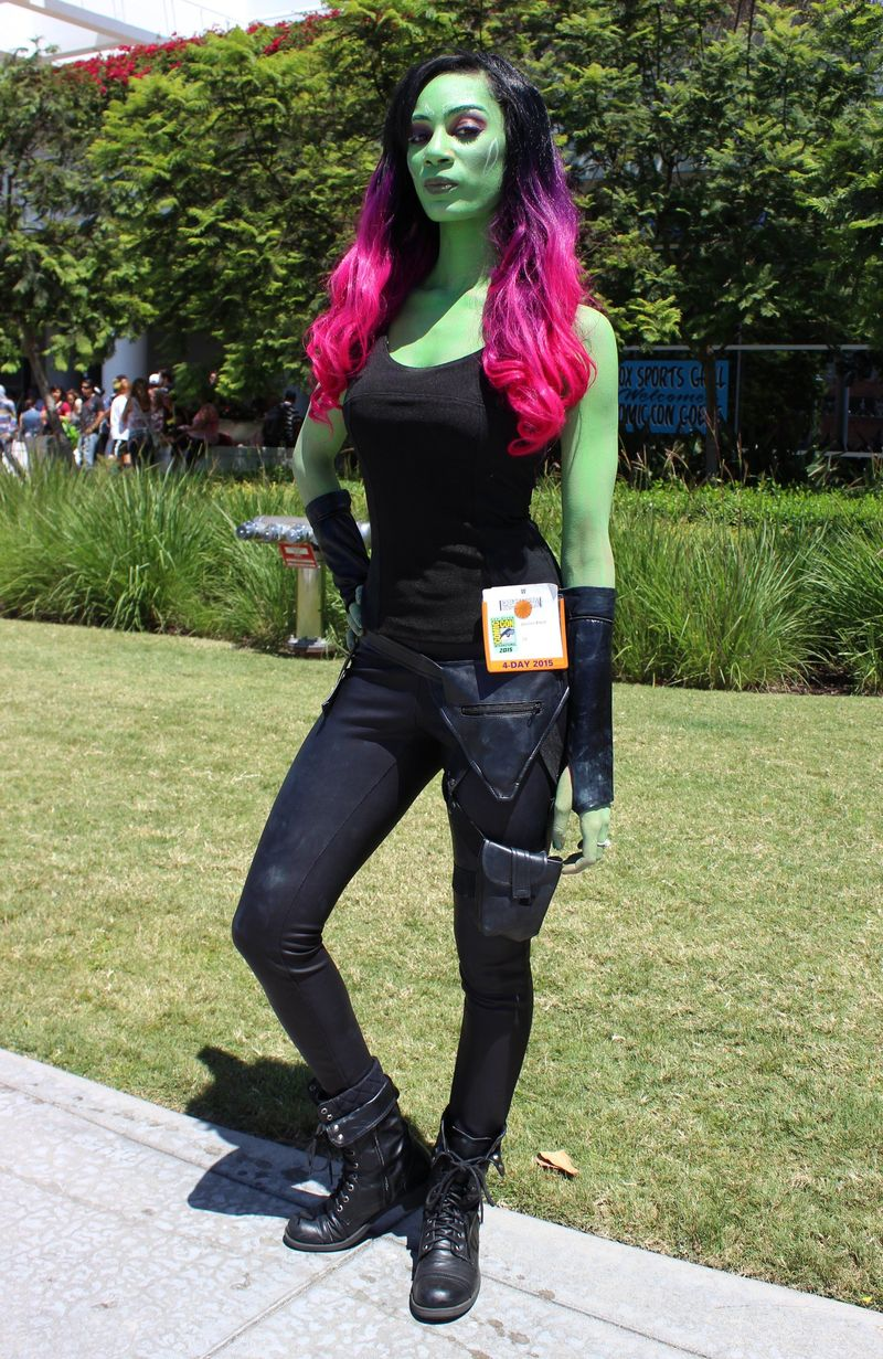 Cosplay of Gamora from Marvel