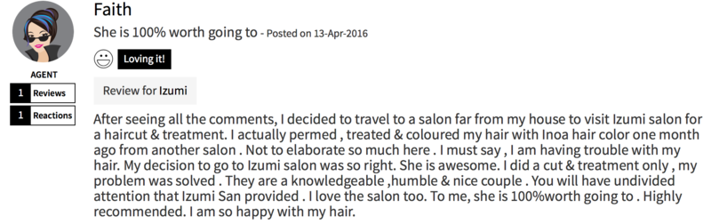 Customer Review of Hair Colour by Izumi