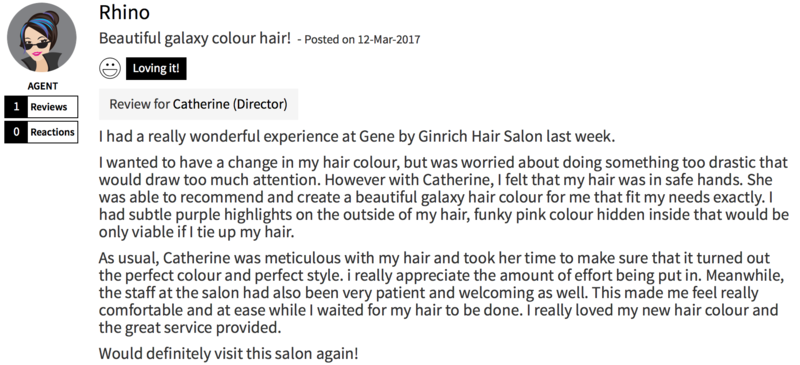 Customer Review of Hair Colour by Gene