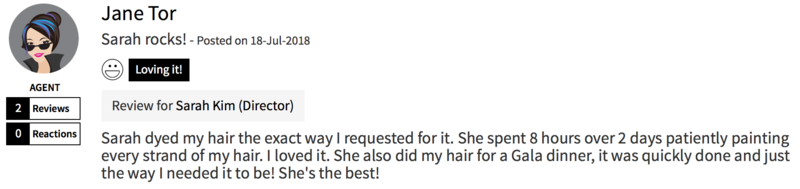 Customer Review of Hair Colour by Koinonia Salon