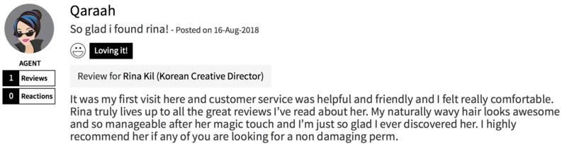 Customer Review of Perm at The Urban Aesthetics