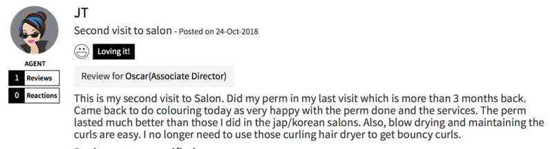 Customer Review of Perm at Chez Vous Hair Salon