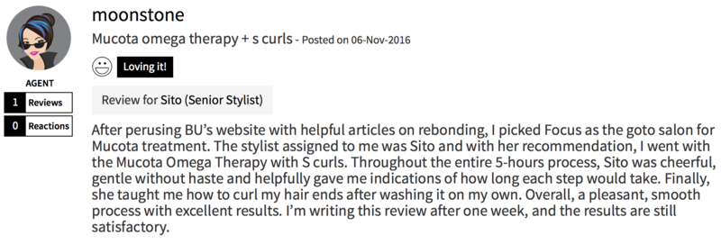 Customer Review of Perm at Focus Hairdressing