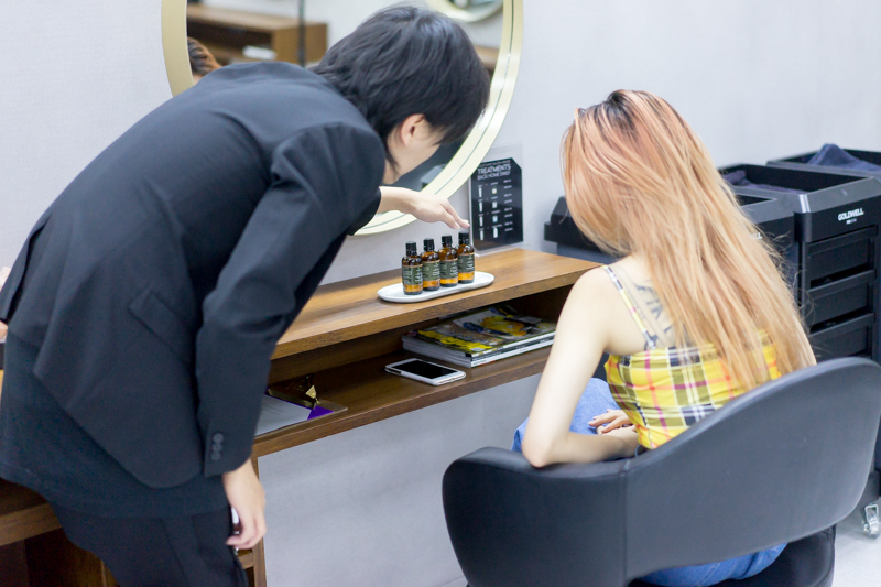 Choice of Essential Oils for Head Massage at Chez Vous Hideaway