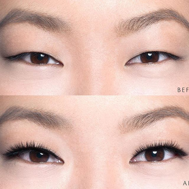 Open eye lash extension for long and narrow monolids