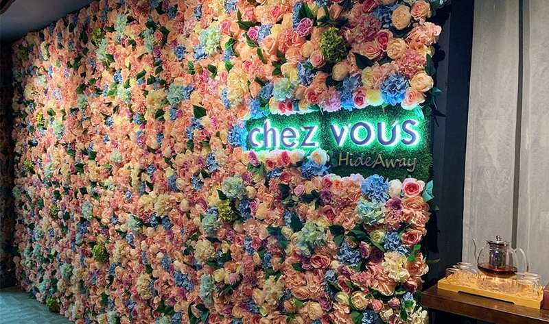 Instagrammable Backdrop and Decor at Chez Vous Hideaway