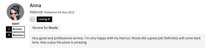 Haircut Review of Walking on Sunshine