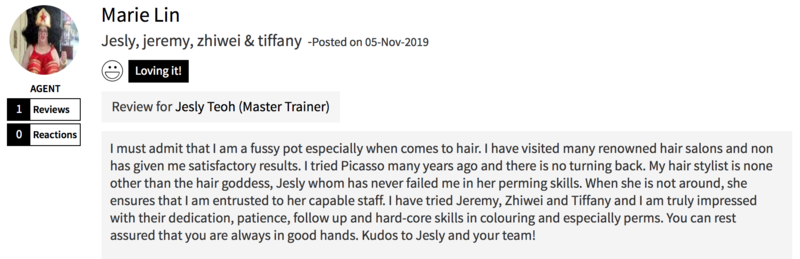 Customer Review of Hair Colour at Picasso Hair Studio