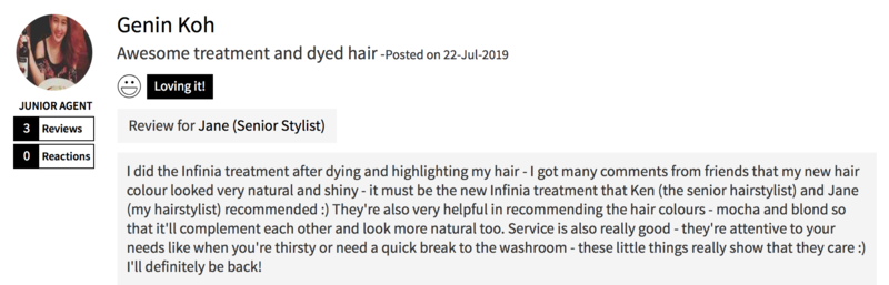 Customer Review of Colour and Treatment at Focus Hairdressing