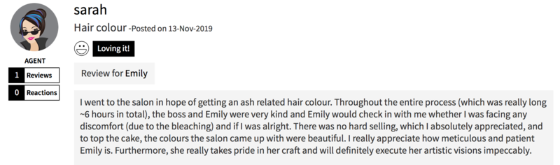 Customer Review of Color Bar by Full House Salon
