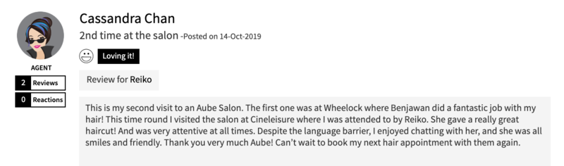 Customer Review of Hair Colour by AUBE