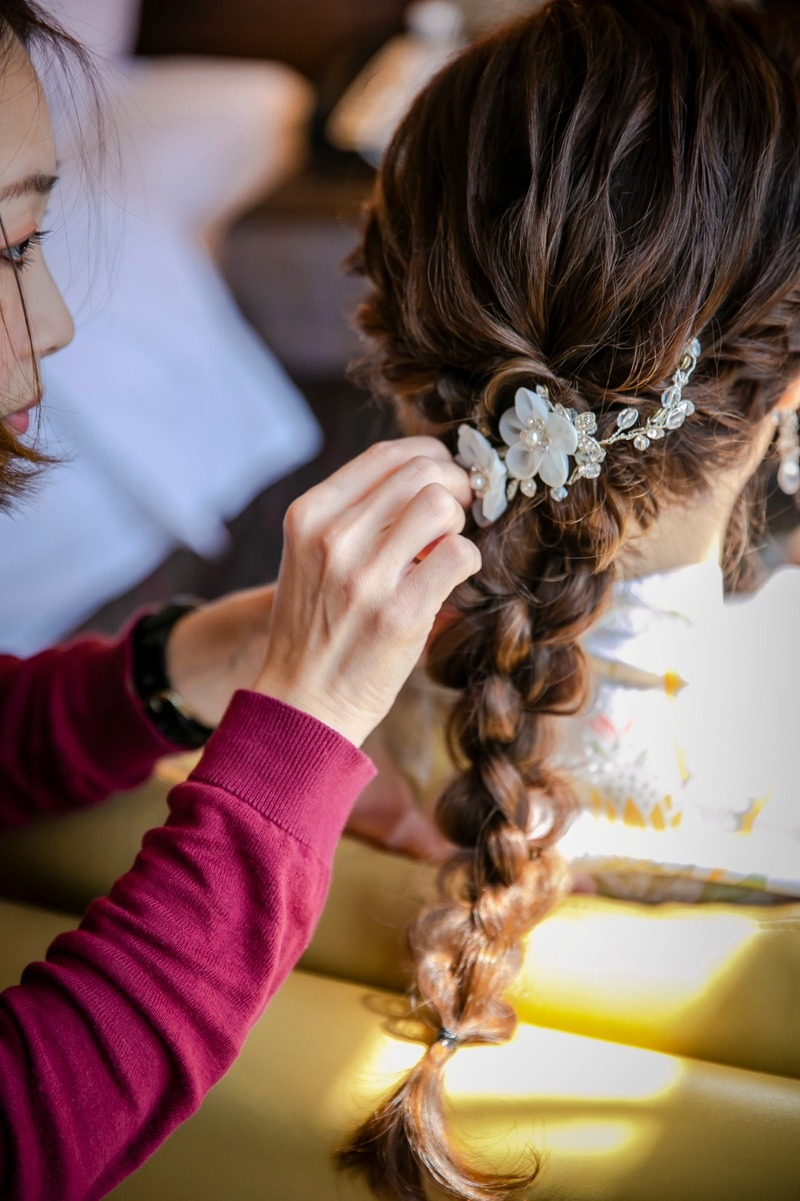 My Coloured Hair by COVO During Wedding Day