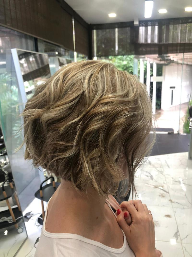 Short Blonde Highlights by The Bunk AMK