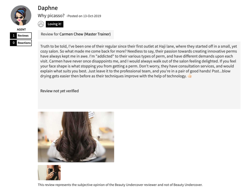 Customer Review of Perm at Picasso Hair Studio