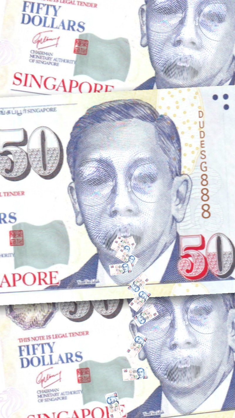 $50 Singapore Note Funny Filter