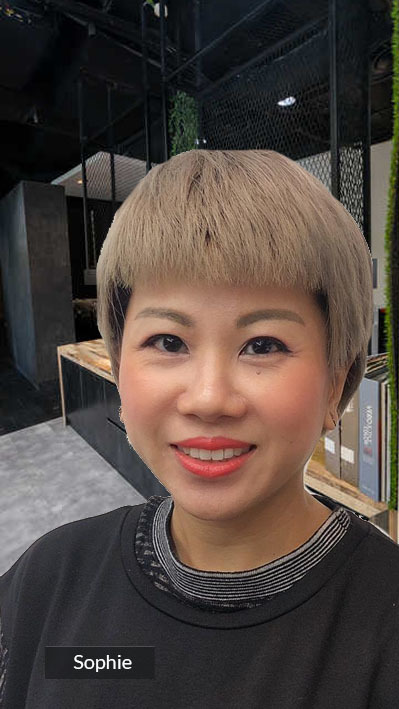 Short Pixie Hair for Busy Woman Video Call