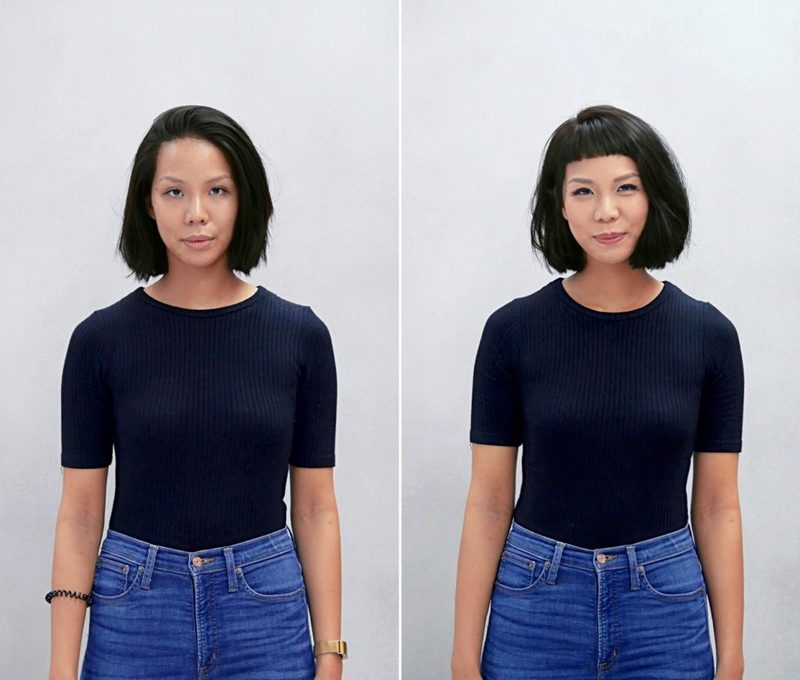 Short Blunt Bob and Micro Bangs by Chez Vous