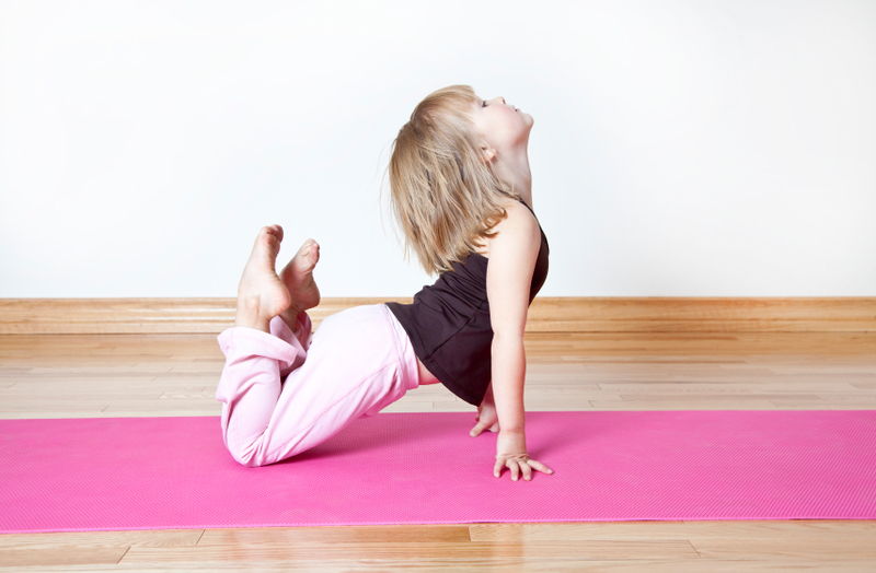 Yoga Bow Pose for Kids